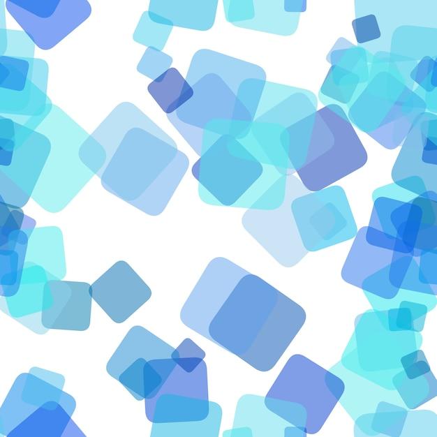 Seamless sfondo modello caotico quadrato - disegno grafico vettoriale da caselle a rotazione casuale con effetto di opacità Vettore gratuito