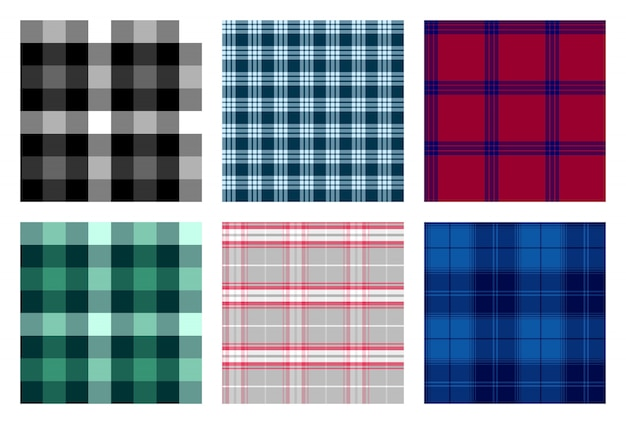 Seamless checkered plaid pattern Premium Vector
