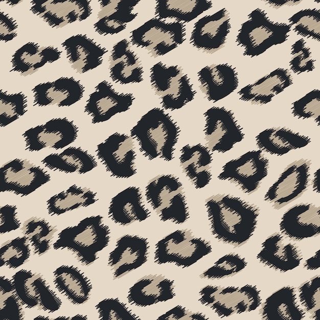 Seamless cheetah fur texture. Premium Vector