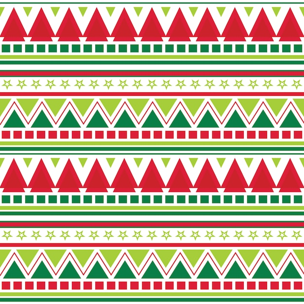 Seamless christmas background with aztec pattern design Premium Vector