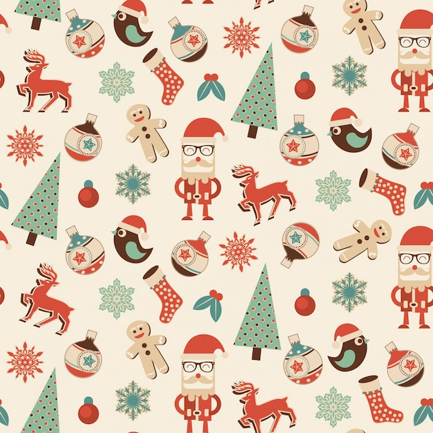 Seamless Christmas Pattern Ideal Design For Gift Wrapping Paper Or Classy Christmas Pattern Wallpaper