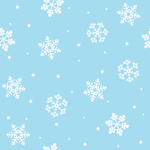 Seamless christmas pattern with snowflakes Premium Vector