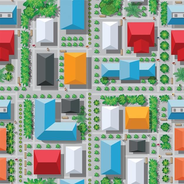 Seamless city map pattern. Premium Vector