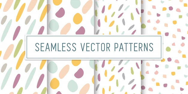 Seamless colourful pattern set Premium Vector