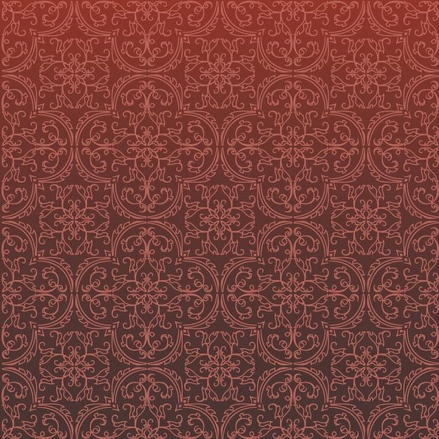 Seamless damask background pattern design and wallpaper made of turkish texture ceramic tiles in vector Premium Vector
