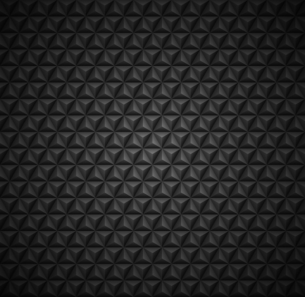 Seamless dark background pattern in triangle shapes Premium Vector