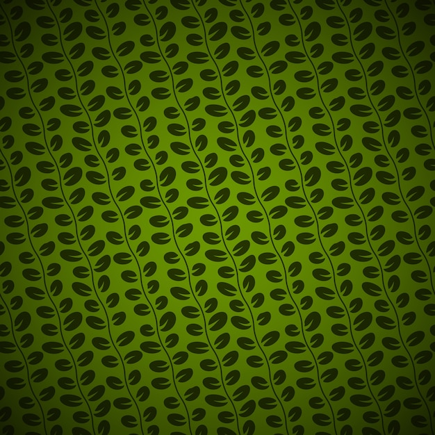 緑の背景にシームレスな斜めの花柄 無料ベクター
