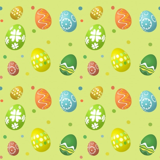 Seamless Easter egg pattern Vector | Free Download