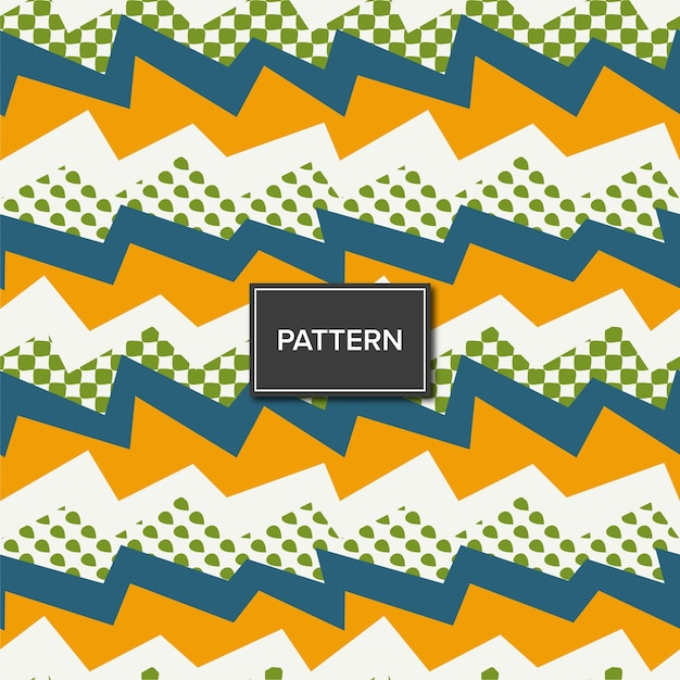 Seamless electric pattern background Premium Vector