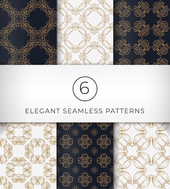 Seamless elegant patterns Premium Vector