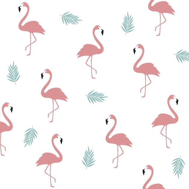 Flamingo vectors photos and psd files free download seamless flamingo pattern background flamingo poster design wallpaper invitation cards textile print pronofoot35fo Images