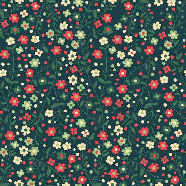 Seamless floral pattern. flowering branches Premium Vector
