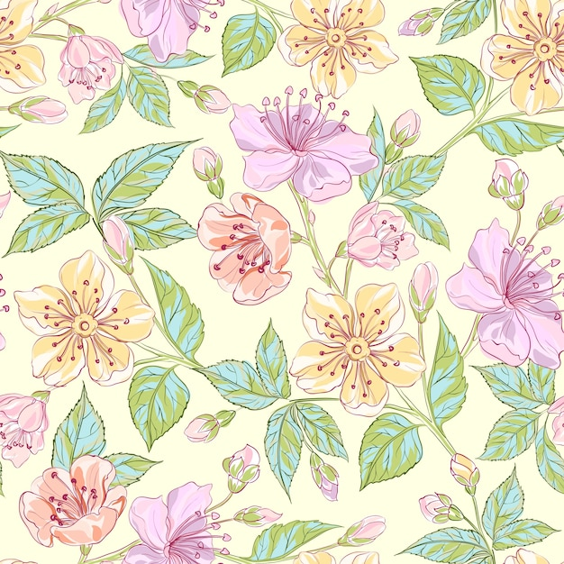 Seamless Floral Pattern Vector Free Download