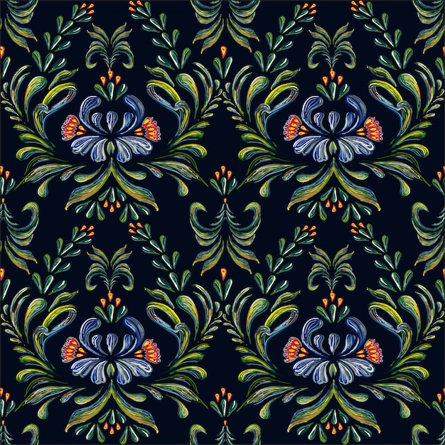 Seamless floral pattern. Premium Vector