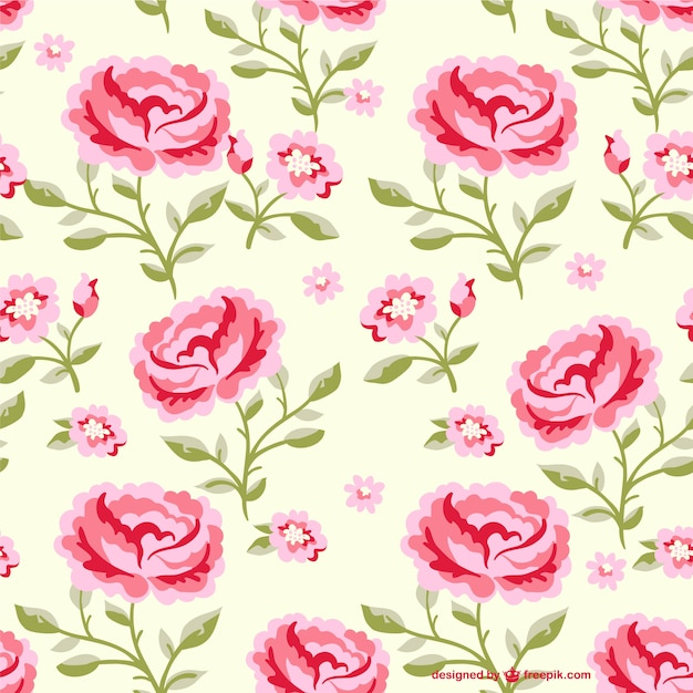 Seamless flowers pattern illustration Vector | Free Download