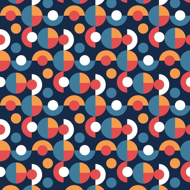 Seamless geometric groovy pattern texture Free Vector