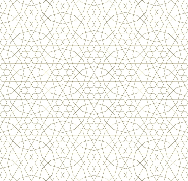 Seamless geometric ornament based on traditional islamic art. Premium Vector