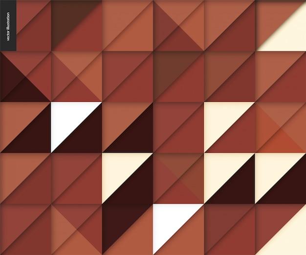 Seamless geometric papercut pattern Premium Vector