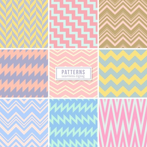 Seamless geometric pattern collection Premium Vector