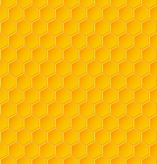 Бесшовный геометрический узор с сотами. иллюстрация Premium векторы