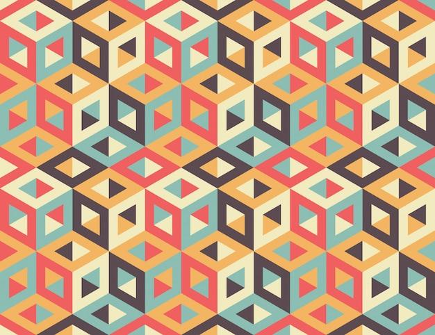 Seamless geometric pattern Premium Vector