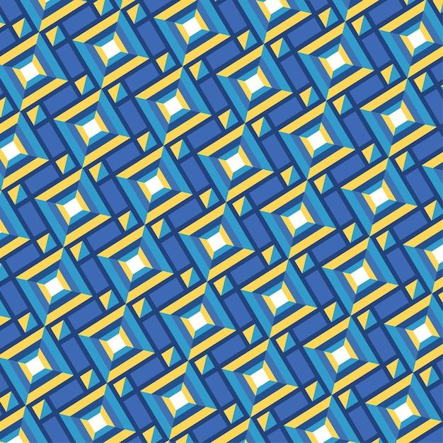 Seamless forme geometriche groovy pattern texture Vettore gratuito