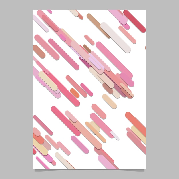 Seamless geometrical chaotic rounded diagonal stripe pattern background page template - vector stationery background graphic design