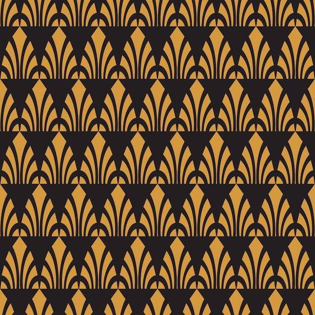 Seamless golden pattern Premium Vector