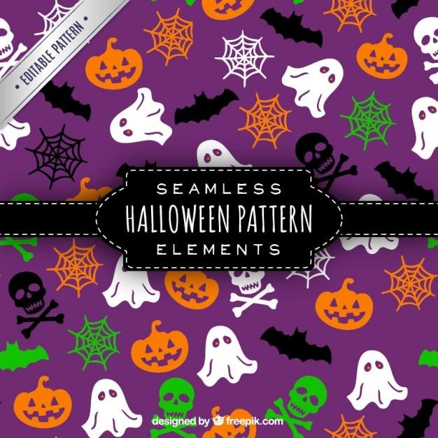 Seamless halloween pattern Free Vector