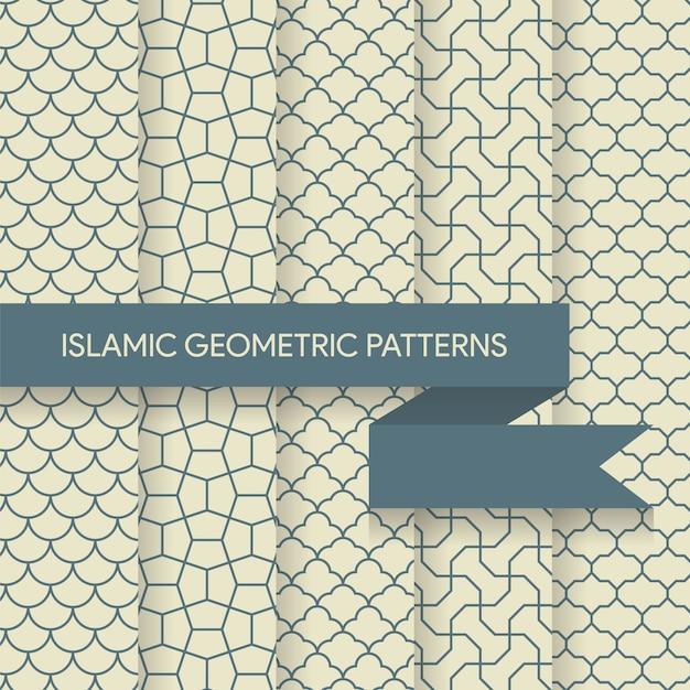 Seamless islamic geometric patterns Premium Vector