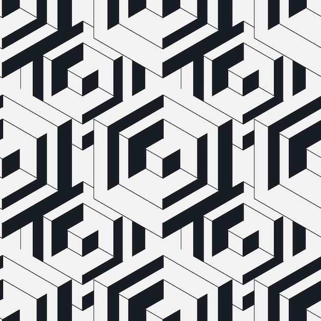 Seamless isometric pattern. Premium Vector