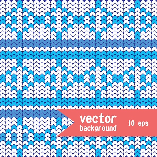 seamless knitted background Free Vector