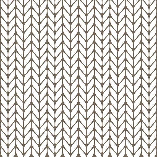 Seamless knitted background Premium Vector