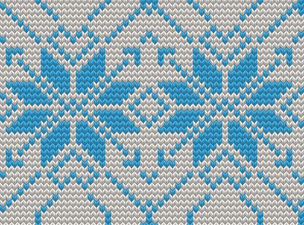 Бесшовные вязание шаблон рождественский свитер. а также включает в себя Premium векторы