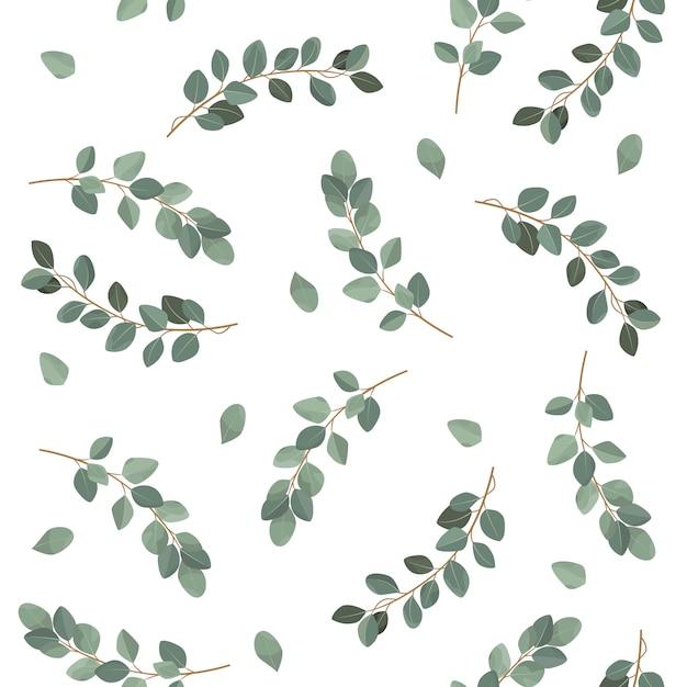 Seamless leaves pattern. Premium Vector
