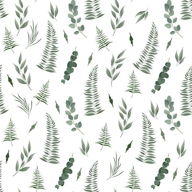 Seamless leaves pattern Premium Vector
