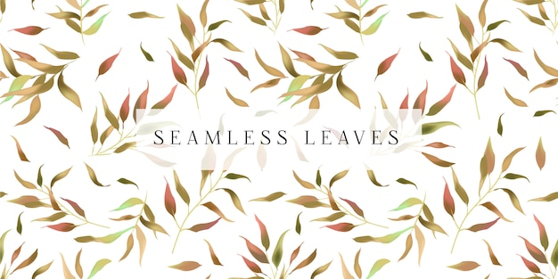 Seamless leaves Premium Vector