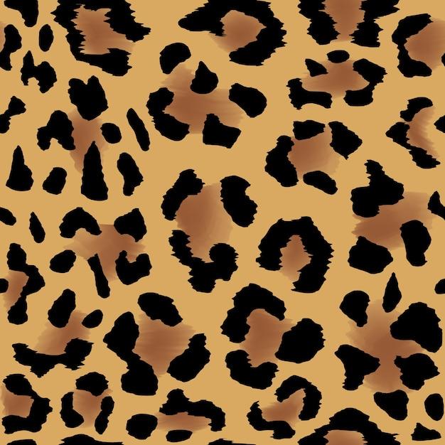 クールな背景のためのシームレスなヒョウの皮のパターン 無料ベクター