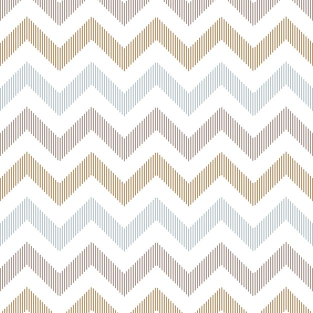 Seamless Linear Zigzag Background Premium Vector