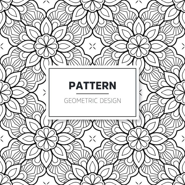 Modello islamico mandala senza soluzione di continuità. elementi vintage Vettore gratuito