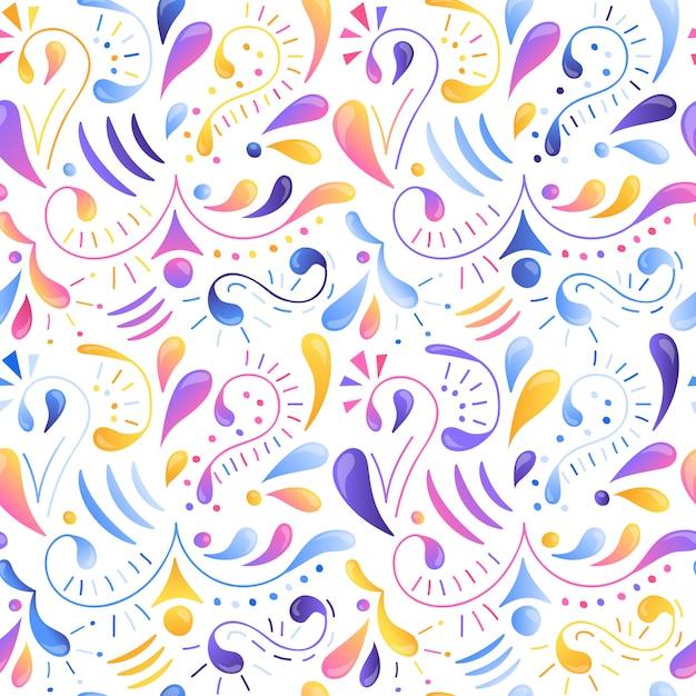 Seamless multicolored gradient pattern. Premium Vector