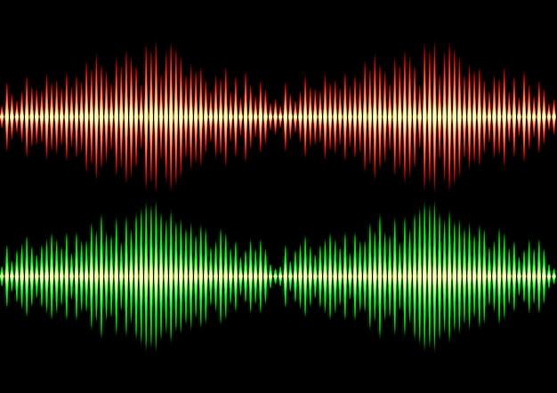 Seamless music wave pattern Premium Vector