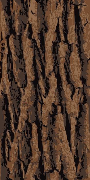 Seamless oak tree bark texture Premium Vector
