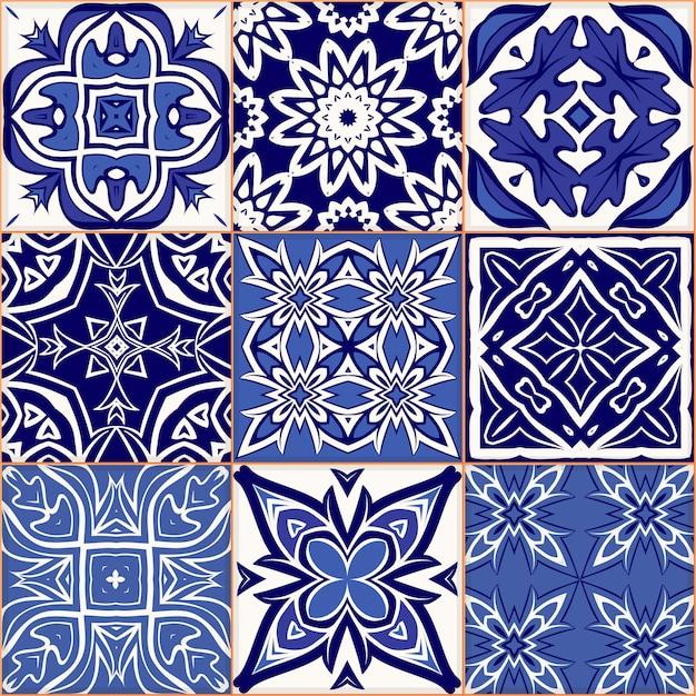 Seamless patchwork pattern in hand drawn Premium Vector