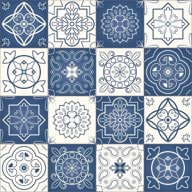Seamless patchwork pattern Premium Vector