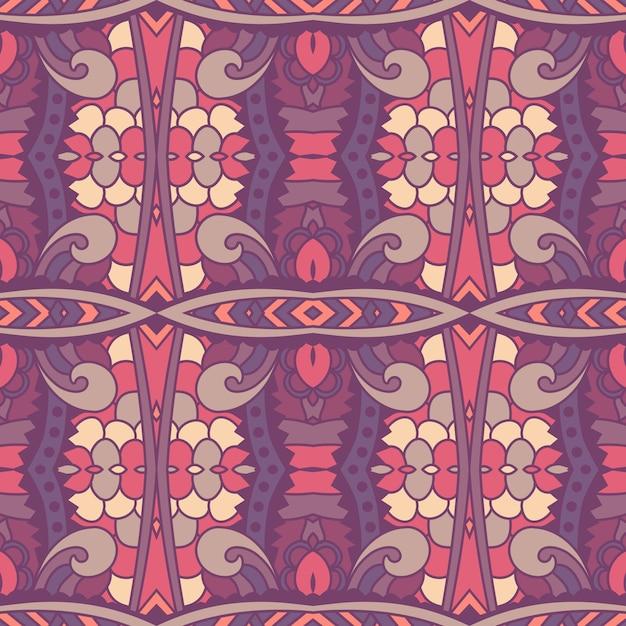 Seamless pattern african art batik ikat. Premium Vector