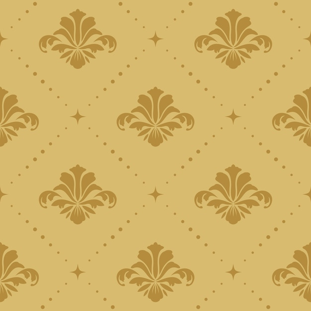 원활한 패턴 배경 바로크입니다. 벽지 복고풍 장식 장식, 무료 벡터
