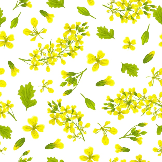 Seamless pattern background of mustard. Free Vector