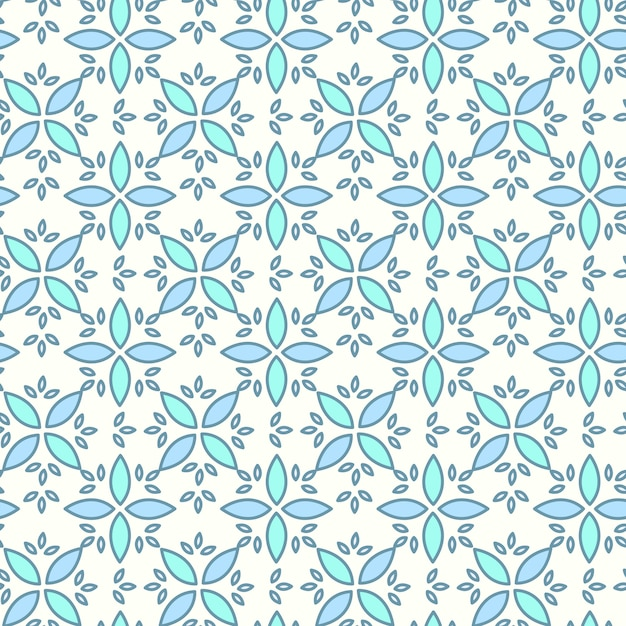Seamless pattern, background with hand drawn cute insects, flowers, leaves Free Vector