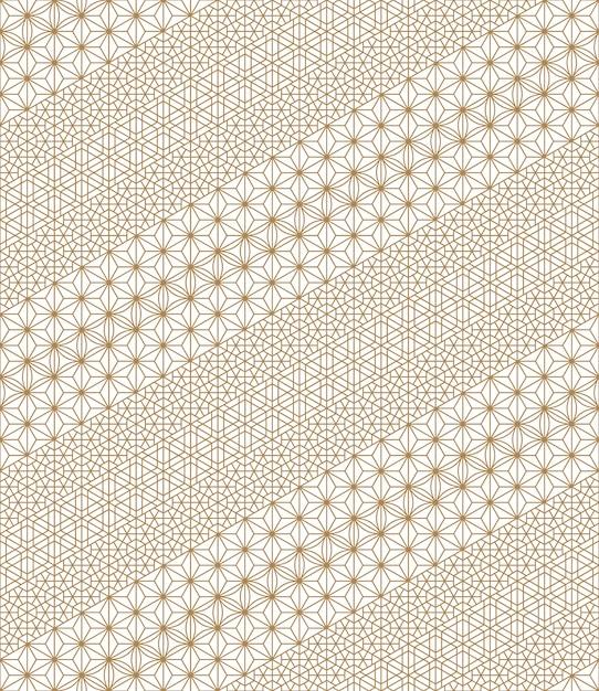 Seamless pattern based on japanese kumiko ornaments Premium Vector